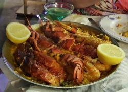 Special paella with lobster
