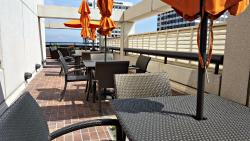 More seating along the rooftop area of Club 12