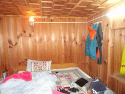 A view of the room at the homestay, and my mess :)