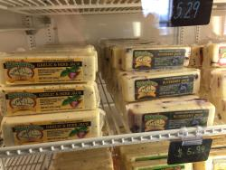 Yummy cheese on a real dairy farm