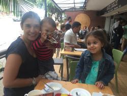En familia en Italia