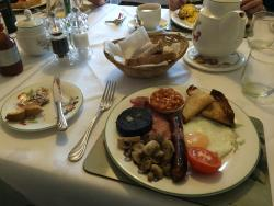 The full Yorkshire breakfast - all locally sourced