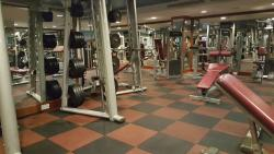 The Clark Hatch Gym at the hotel.