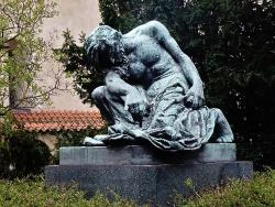 Statue of Moses by Frantisek Bilek