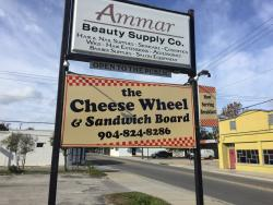 Cheese Wheel & Sandwich Board