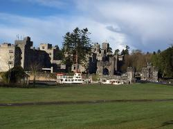 View of Ashford Castle from the walking path