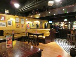 """Inside the basement bar that is """"Delany's Irish Pub"""" (18/Apr/16)."""