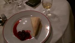 Dessert with matching dessert wine