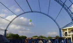 Paragliding near the beach