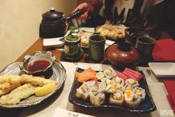 My table full of sushi