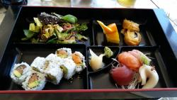 Sashimi B Lunch special with spicy salmon roll $ 13 - very good!