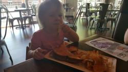 That's a serious PB&J! As a mom, it's fantastic to find a place with a great kid friendly option