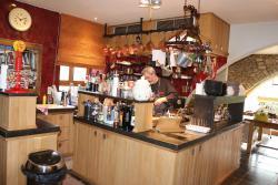 De open keuken van de patron