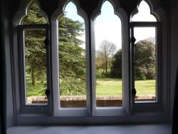 view from four poster room