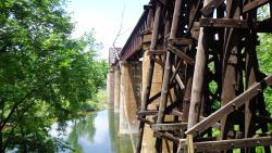 Historic Cotter railroad bridge