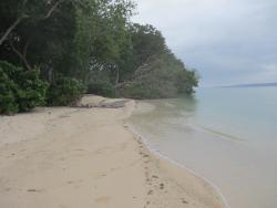 The beach in front of mahi mahi villas
