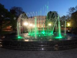 Fountain with Lights and Music