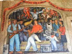 Murales de Diego Rivera en la Secretaría de Educacion Publica