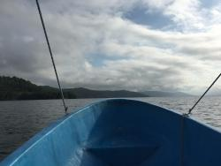 Arriving from Flores by boat