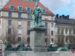 Karl XII staty Kungstradgarden