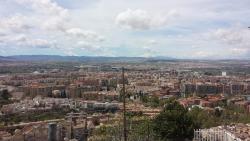 Vista de Granada a partir do restaurante
