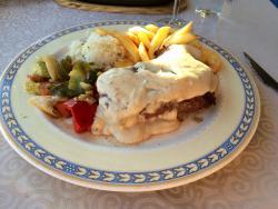 Sirloin Steak with roquefort sauce
