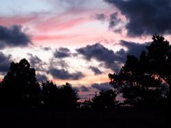 A summer evening sunset at Kalgan River Caravan Park