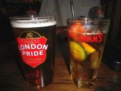 Our drinks at the Mad Bishop and Bear