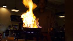 Bruno did an amazing job preparing  Crepes Suzette!  I got a little nervous when Bruno appeared