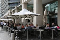 Outdoor seating in Circular Quay
