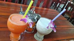 морковный и молочный коктейль