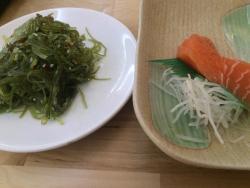 Variety of sushi and sashimi