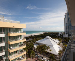 The Partial Ocean View Studio at the Hilton Bentley Miami/South Beach
