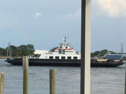 Ferry Ride to the Sand  Dollar Restaurant...and a great view from the deck.