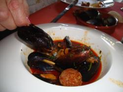 Mussels with Chirzo