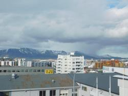 the mountains from our third floor room