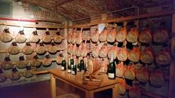 Meats stored at Eataly Lingotto's cellar