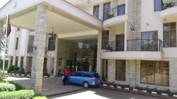 This is our driver in front of the Alba Hotel. It is a gated property and it is very secure.