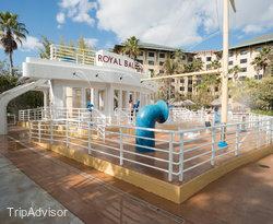 Royal Bali Sea Water Play Area at the Pool at the Loews Royal Pacific Resort at Universal...