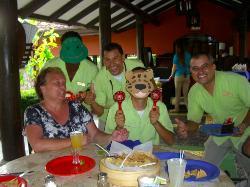 Birthday celebration with staff