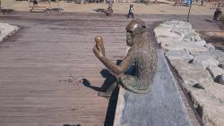 Anís del Mono sculpture