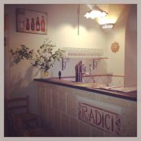 radici pizza and food