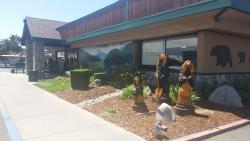 Exterior of the restaurant - more bears