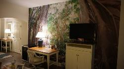 Tolle Wandtapete im Excecutive Room