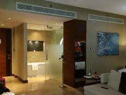 Spacious room with separate bath & toilet areas