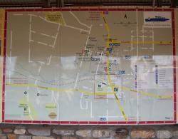 Kojonup map on information sign