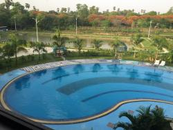 Nice average hotel for Magway standards. Centrally located, lake-view and opposite from the hote