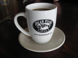Dead Fish coffee cup - front
