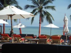 View from Beach Republic restaurant booth, Lamai Beach, Ko Samui, Thailand