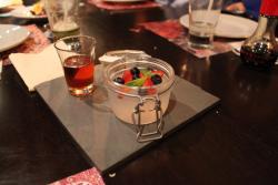 Gelatina china con miel de higo - un postre único!